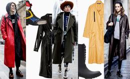 Первая модная помощь в дождь: тренчи, ботинки, сапоги