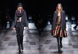 Показ женской коллекции одежды Burberry Prorsum осень-зима 2009/10