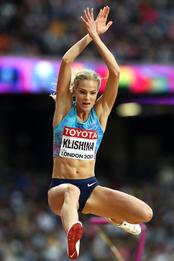Дарья Клишина в Nike на чемпионате мира по легкой атлетике в Лондоне