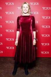 Оксана Бондаренко на презентации Tumi в Москве