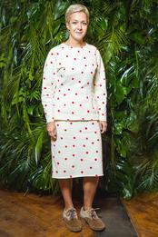 Ксения Чилингарова в Nina Donis на ужине в честь открытия нового магазина Coccinelle в Москве