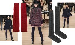 Гольфы и гетры вместо зимних сапог, как на показе Chanel
