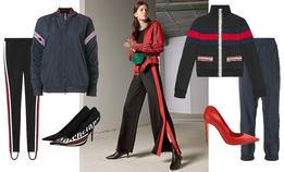 Спортивный костюм со шпильками — модная идея на весну
