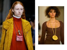 Будущей осенью крошечные сумки-кошельки все будут носить на шее