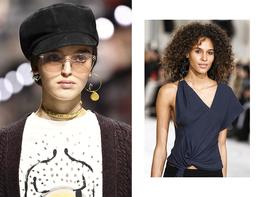 Огромные асимметричные серьги — этнический тренд Недель моды