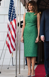 Мелания Трамп в Brandon Maxwell в Белом доме