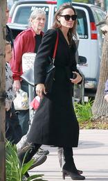 Анджелина Джоли с сумкой Salvatore Ferragamo в Голливуде