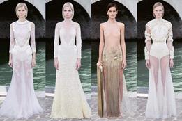 Показ женской коллекции Givenchy Haute Couture осень-зима 2011/12