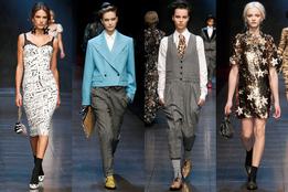 Показ женской коллекции Dolce & Gabbana осень-зима 2011/12