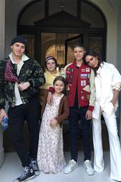 Бруклин, Круз, Харпер, Ромео и Виктория Бекхэм в Голливуде