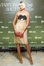 Инга Берман в платье Simone Rocha и туфлях Prada на вручении ресторанной премии «Лавровый лист» в отеле «Метрополь»