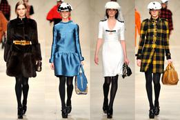 Показ женской коллекции Burberry осень-зима 2011/12