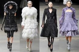 Показ женской коллекции Alexander McQueen осень-зима 201112