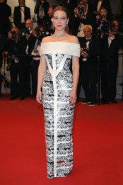Леа Сейду в платье Louis Vuitton и украшениях Boucheron на премьере фильма «Под Силвер-Лэйк» в Каннах
