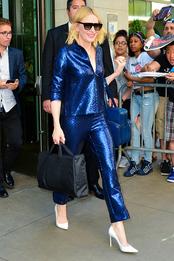 Кейт Бланшетт на пресс-конференции фильма «8 подруг Оушена» в Нью-Йорке
