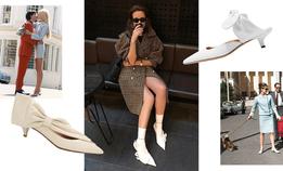 Светлые kitten heels с бантиками и оборками —самая модная обувь сезона