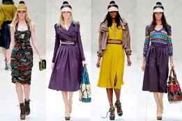 Женская коллекция одежды Burberry весна-лето 2012