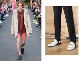 Туфли с массивными тупыми носами — интересный прием для отчаянно модных