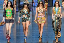 Женская коллекция одежды D&G весна-лето 2012