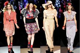 Женская коллекция одежды Anna Sui весна-лето 2012
