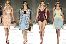 Женская коллекция одежды Prada весна-лето 2012