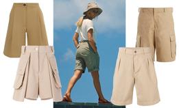 Песочные длинные шорты— модное спасение в жару
