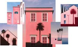 Розовые дома и пальмы Корсики в очень красивом инстаграме
