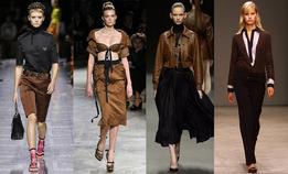 Черный и коричневый — самое модное сочетание