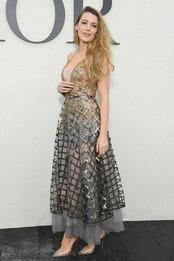 Блейк Лайвли в Christian Dior на показе Christian Dior