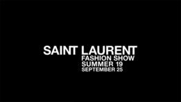 Показ Saint Laurent в 21:00 по московскому времени