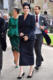 Лив Тайлер в Victoria Beckham на свадьбе принцессы Евгении и Джека Бруксбэнка в Виндзорском замке
