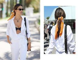 Носите платок на хвосте как Алессандра Амброзио