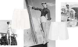 Этим летом носите короткие белые шорты, как у Одри Хепберн