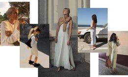 Как модницы инстаграма носят простые белые платья