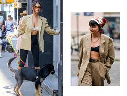 Носите бра с пиджаком, как Эмили Ратажковски, Мария Бернад и другие модницы