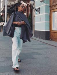 Кейпы-пледы —модное спасение от осеннего ветра
