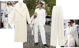 Пять модных способов одеться в белый с головы до ног осенью