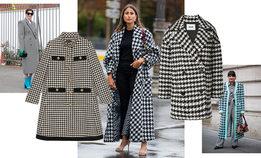 Пальто в гусиную лапку — самое эффектное спасение от холода согласно выбору звезд стритстайла