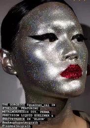 Космический макияж на показе Valentino Couture в Пекине
