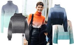 Грядущей зимой носите яркие градиентные свитеры
