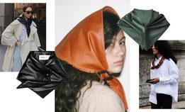 Кожаная бандана — самый модный аксессуар осени